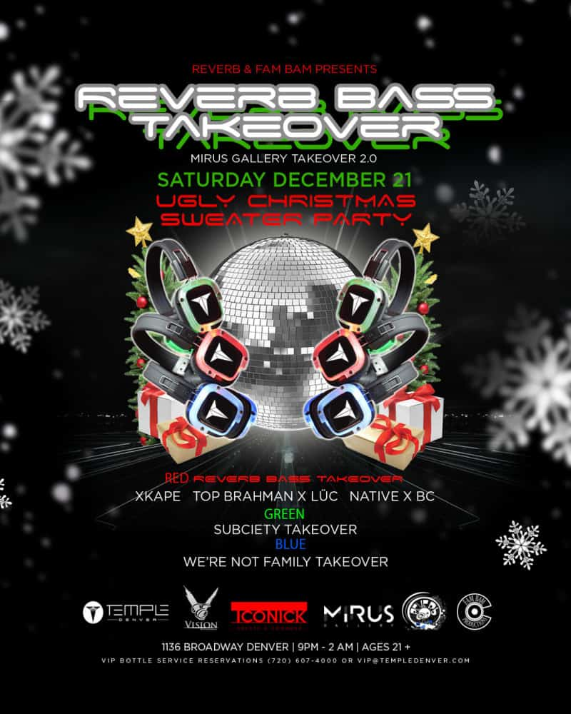 ugly sweater edm party denver